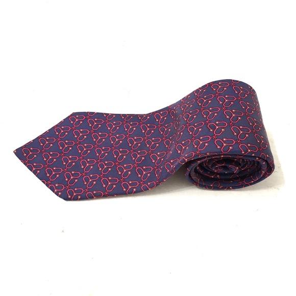 Hermes Other - Hermes Mens Purple Spinner Pattern Tie